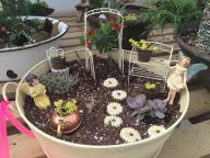 This fairy garden shows that you don't need a lot to make a little garden look nice.